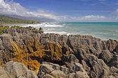 Eroded Ocean Rocks on the Coast — Stock Photo