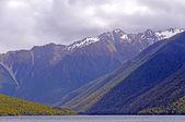 Nubi e sole in montagna — Foto Stock