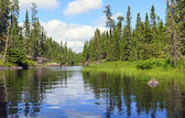 Narrow Channel on a Wilderness Lake — Stock Photo