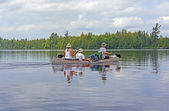 Paddling on a Wilderness lake — Stock Photo