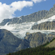 Stock Photo: Alpine Glacier on Rocky Peaks