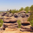 Sandstone bluffs in the Wilderness — Stock Photo