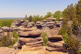 Sandstone bluffs in the Wilderness — Stock Photo