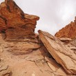 Dramatic Rocks in a Desert Canyon — Stok fotoğraf