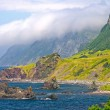 Clouds and Crags along an Ocean Coast — Stock Photo