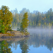 Fog and Mist at Morning in the Lake Country — Stock Photo