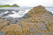 Dramatic View of Basalt Columns on the Coast — Stock Photo