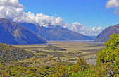 Glacial Valley Viewed From the Mountains — Stock Photo