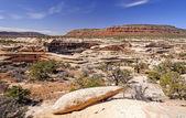 Kırmızı kayalar ülkede panorama — Stok fotoğraf