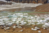 Glacial Pond and Ice in the Mountains — Stock Photo