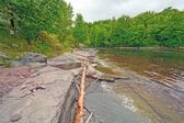 Mouth of a River in the Great Lakes — Stockfoto