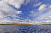 Fall Clouds over a Wilderness Lake — Stock Photo