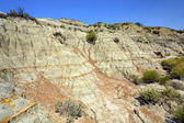 Badlands Escarpment in Summer — Stock Photo