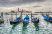 Venetian gondolas on the water HDR — Stock Photo