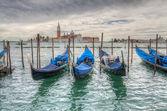 Venetian gondolas on the water HDR — Stock Photo