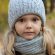 Autumn portrait of a little girl — Stock Photo