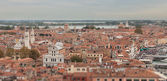 View of Venice with a bird's-eye view — Стоковое фото