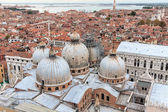 View of Venice with a bird's-eye view — Stok fotoğraf