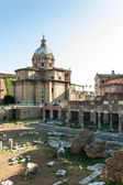 View of the ruins of ancient Rome forum — Stock Photo