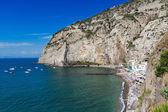 Beautiful beach in Sorrento Italy — Stock Photo