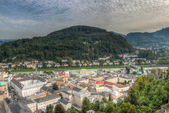 View of the historic city of Salzburg, Salzburger Land, Austria — Stock Photo