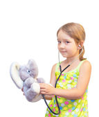 The Child and toy — Stock Photo