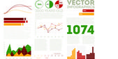 Conjunto de infográficos — Vetorial Stock