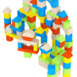 Colourful array of different building blocks — Stock Photo