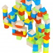 Stock Photo: Colourful array of different building blocks