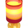 Colourful cylindrical lampshade and base — Stock Photo