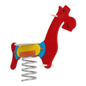 Colourful toy jumping horse — Stock Photo