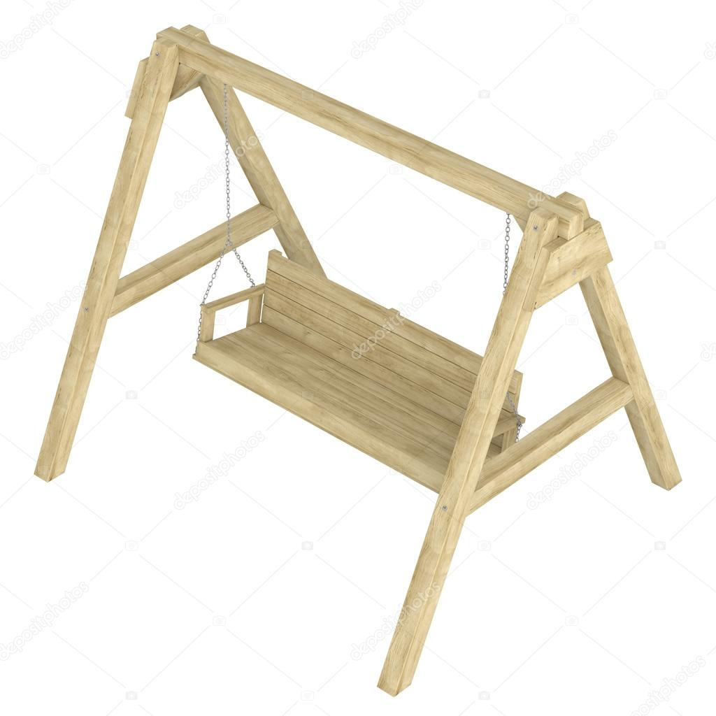 Wooden Garden Swing Bench Stock Photo Nmorozova 13027806