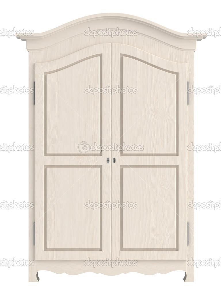 Armario de madera pintado blanco fotos de stock - Armario madera blanco ...