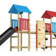 double slide for childrens playground — Stock Photo