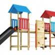Double slide for childrens playground — Stock Photo #13210570