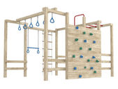 Jungle gym or climbing frame — Stock Photo