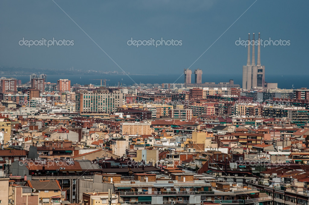 Panorama from Barcelona City, Spain — Stock Photo #13443298