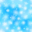 Snowflakes, seamless — Stock Photo