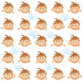 Smilies, set — Stock Vector