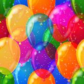 Balloon background seamless — Stock Vector