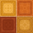 Abstract pattern, background tile, set — Stock Photo