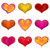 Valentine heart, set — Stock Photo