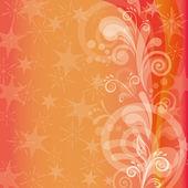 Orange holiday background — Stock Vector