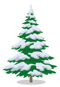 Christmas tree with snow — Stock Vector