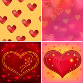 Valentine background, set — Stock Vector