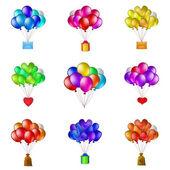 Balon demetleri, ayarla — Stok Vektör