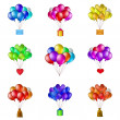 Royalty-Free Stock Photo: Balloons bunches, set