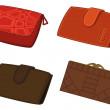 Stock Photo: Leather wallets, set