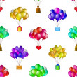 Royalty-Free Stock Photo: Balloons bunches, seamless