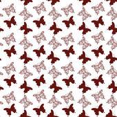 Seamless background, butterflies contours — Stock Vector